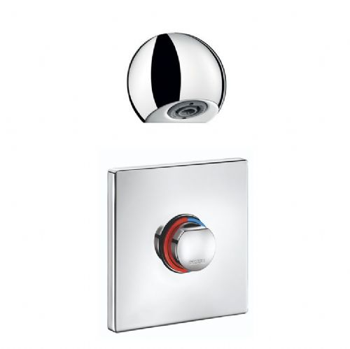 Delabie 794219 TEMPOMIX 3 Recessed Push Time-Flow Vandal-Resistant Shower Kit